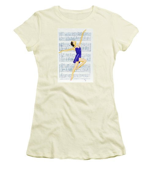 In Sync With The Music Women's T-Shirt (Junior Cut) by Margaret Harmon