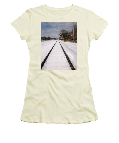 In The Distance Women's T-Shirt (Junior Cut) by Sara  Raber