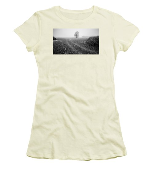 Women's T-Shirt (Junior Cut) featuring the photograph In The Mist by Davorin Mance