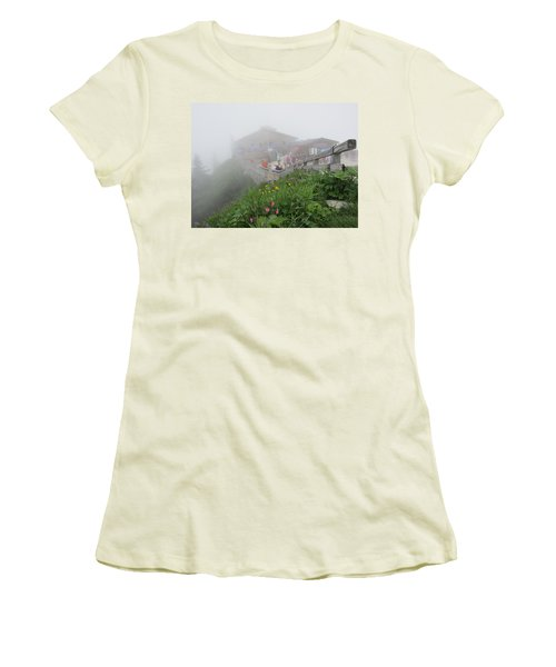 Women's T-Shirt (Junior Cut) featuring the photograph In The Mist by Pema Hou