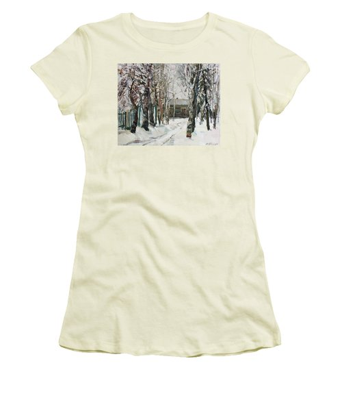 In The Snowy Silence Women's T-Shirt (Athletic Fit)
