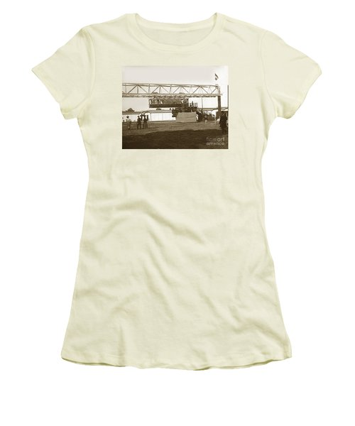 Women's T-Shirt (Junior Cut) featuring the photograph Incredible Hanging Railway  1900 by California Views Mr Pat Hathaway Archives