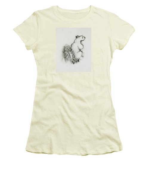 Ink Squirrel Women's T-Shirt (Athletic Fit)