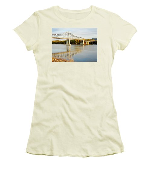 Interstate Bridge In Winona Women's T-Shirt (Athletic Fit)