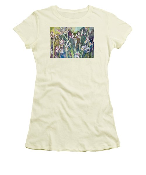 Irises And Doodles Women's T-Shirt (Athletic Fit)