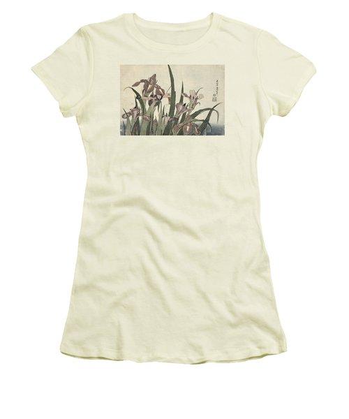 Irises And Grasshopper Women's T-Shirt (Athletic Fit)