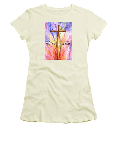 Isaiah Sixty One Verse One Women's T-Shirt (Junior Cut) by Nancy Cupp