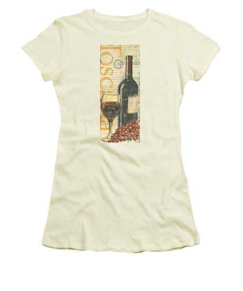 Italian Wine And Grapes Women's T-Shirt (Junior Cut)