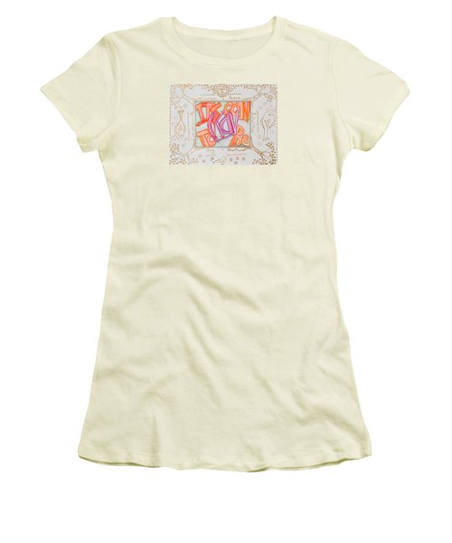 Women's T-Shirt (Junior Cut) featuring the painting Its Going To Be Okay by Cassie Sears