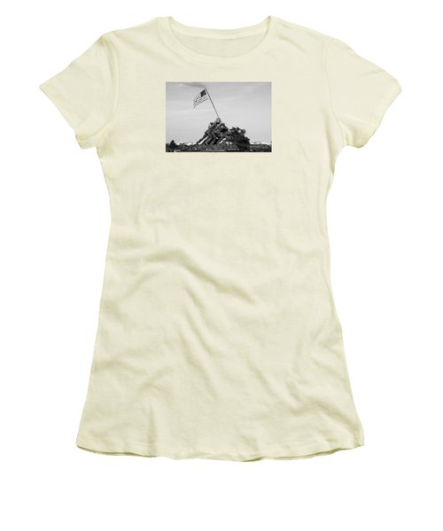 Iwo Jima Memorial Women's T-Shirt (Athletic Fit)