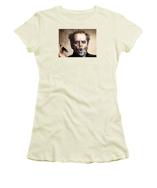 Jack Nicholson Women's T-Shirt (Junior Cut) by Andrzej Szczerski