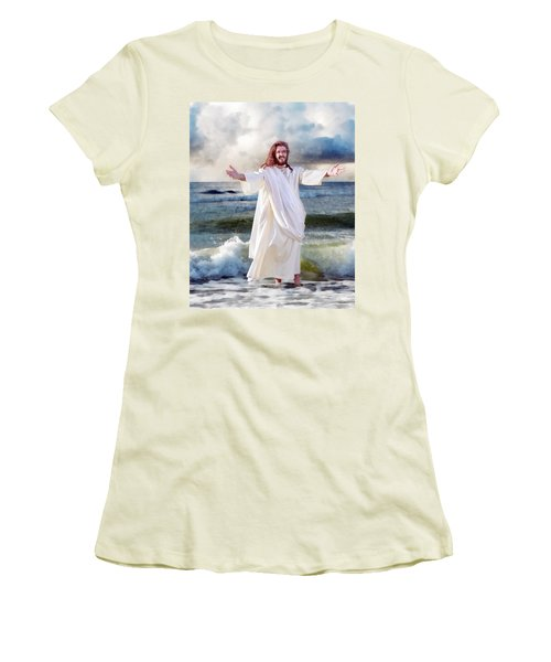 Jesus On The Sea Women's T-Shirt (Athletic Fit)
