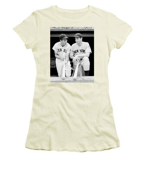 Joe Dimaggio And Ted Williams Women's T-Shirt (Athletic Fit)