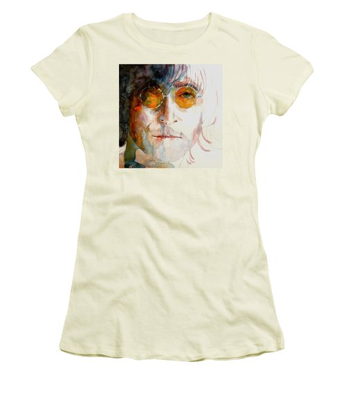 John Winston Lennon Women's T-Shirt (Athletic Fit)
