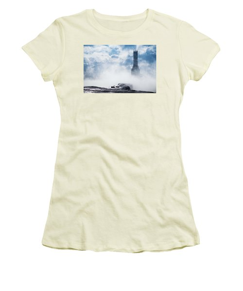 Just Cold And Disappear Women's T-Shirt (Athletic Fit)