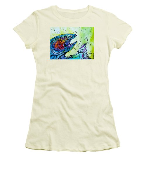 Women's T-Shirt (Junior Cut) featuring the painting Karl by Nicole Gaitan