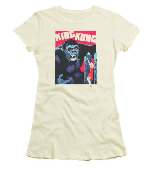 King Kong - Bright Poster Women's T-Shirt (Junior Cut) by Brand A