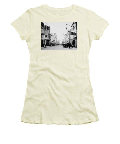King Street In Charleston South Carolina Circa 1910 Women's T-Shirt (Athletic Fit)