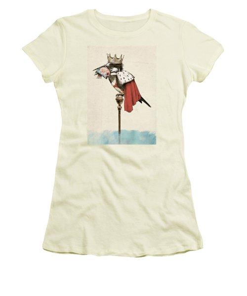 Kingfisher Women's T-Shirt (Junior Cut) by Eric Fan