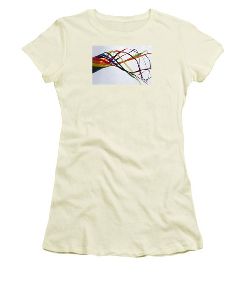 Women's T-Shirt (Junior Cut) featuring the photograph Kite  by Susan  McMenamin