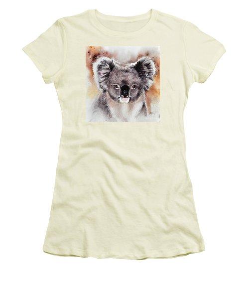 Koala  Women's T-Shirt (Junior Cut) by Sandra Phryce-Jones