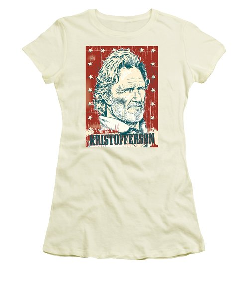Kris Kristofferson Pop Art Women's T-Shirt (Athletic Fit)