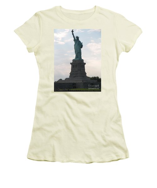 Women's T-Shirt (Junior Cut) featuring the photograph Lady Liberty by Luther Fine Art