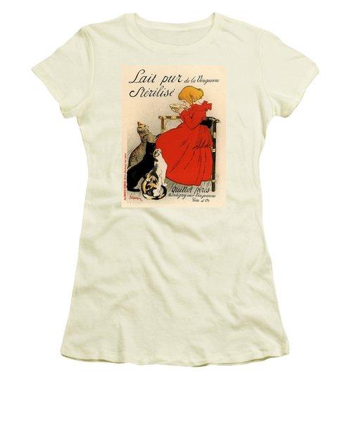 Lait Pur De La Vingeanne Sterilise Women's T-Shirt (Junior Cut) by Gianfranco Weiss