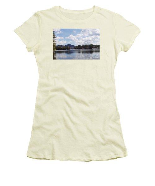 Lake Placid Women's T-Shirt (Junior Cut) by John Telfer