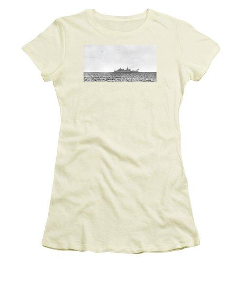 Landing On The Horizon Women's T-Shirt (Junior Cut) by Betsy Knapp