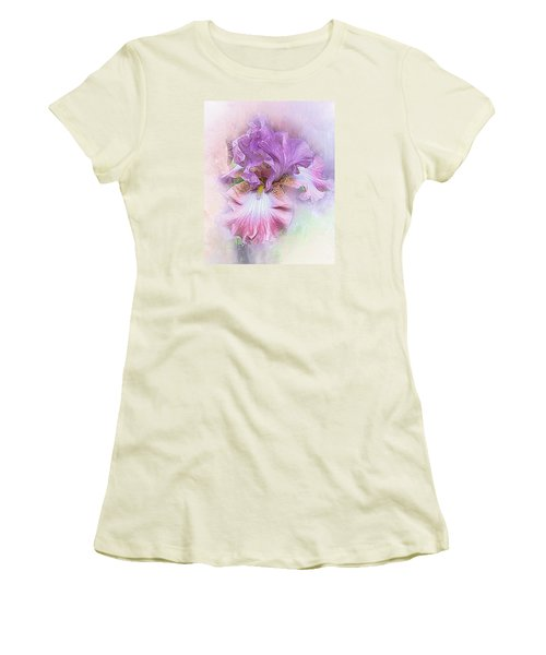 Women's T-Shirt (Junior Cut) featuring the digital art Lavendar Dreams by Mary Almond