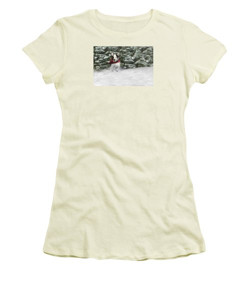 Snow Day Women's T-Shirt (Junior Cut) by Shelley Neff