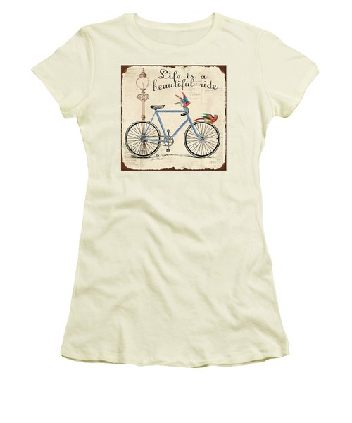 Life Is A Beautiful Ride Women's T-Shirt (Junior Cut) by Jean Plout