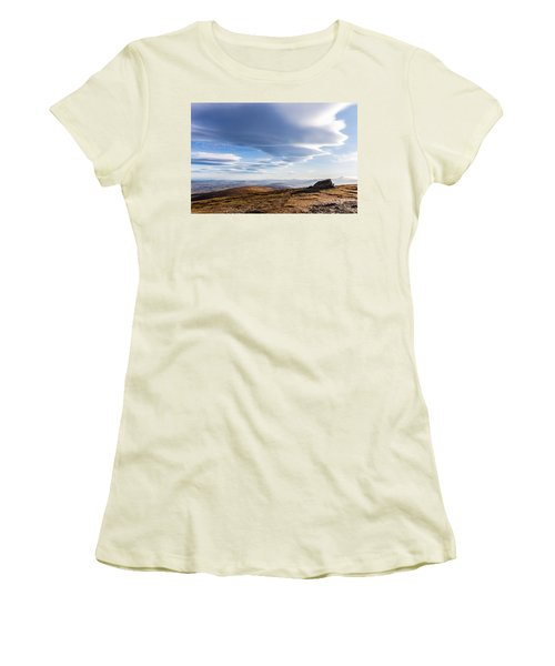 Lightfall On Djouce Mountain Summit Women's T-Shirt (Athletic Fit)