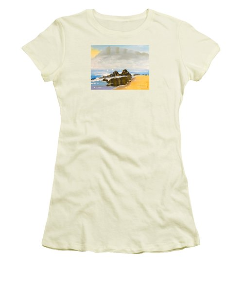 Lighthouse Beach Women's T-Shirt (Athletic Fit)