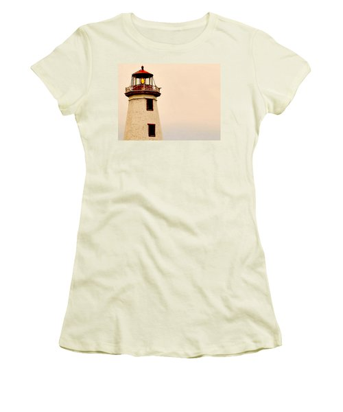 Lighthouse Beam Women's T-Shirt (Athletic Fit)