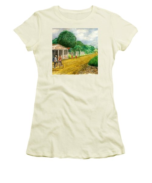Limon Costa Rica Women's T-Shirt (Junior Cut) by Frank Hunter
