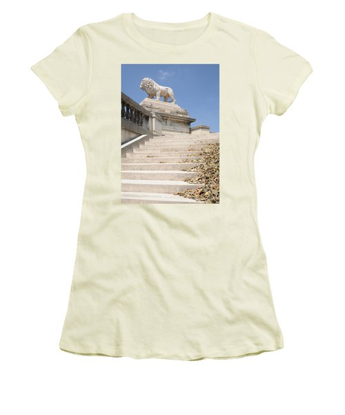 Lion Tuileries Garden Paris Women's T-Shirt (Junior Cut) by Jeremy Voisey