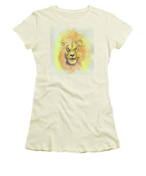 Lion Yellow Women's T-Shirt (Athletic Fit)