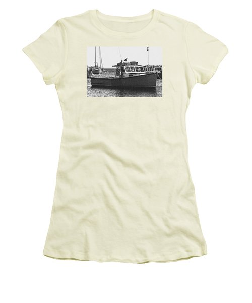 Lobster Boat Women's T-Shirt (Junior Cut) by Fred Larson