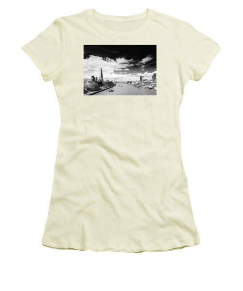 Women's T-Shirt (Junior Cut) featuring the photograph London Panorama by Chevy Fleet