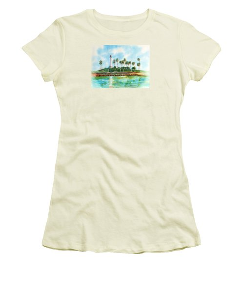 Long Beach Lighthouse  Version 2 Women's T-Shirt (Athletic Fit)