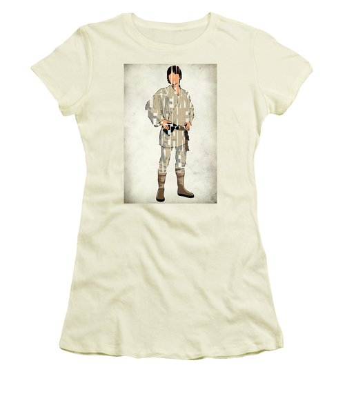 Luke Skywalker - Mark Hamill  Women's T-Shirt (Athletic Fit)