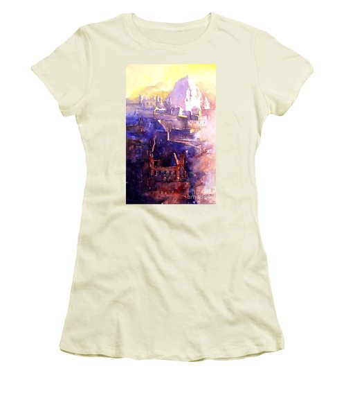 Machu Pichu- Peru Women's T-Shirt (Junior Cut) by Ryan Fox