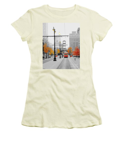 Main Street Trolley  Women's T-Shirt (Athletic Fit)