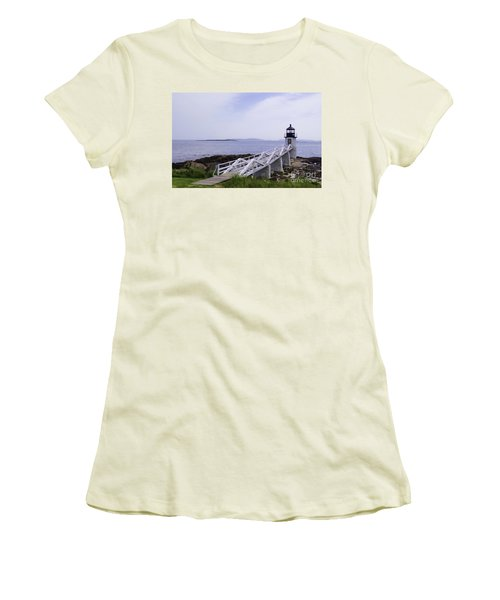 Marshall Point Light 1 Stylized Women's T-Shirt (Athletic Fit)