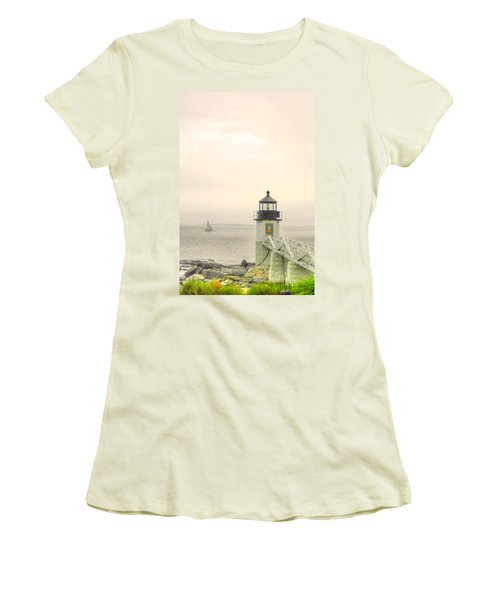 Marshall Point Lighthouse In Maine Women's T-Shirt (Athletic Fit)