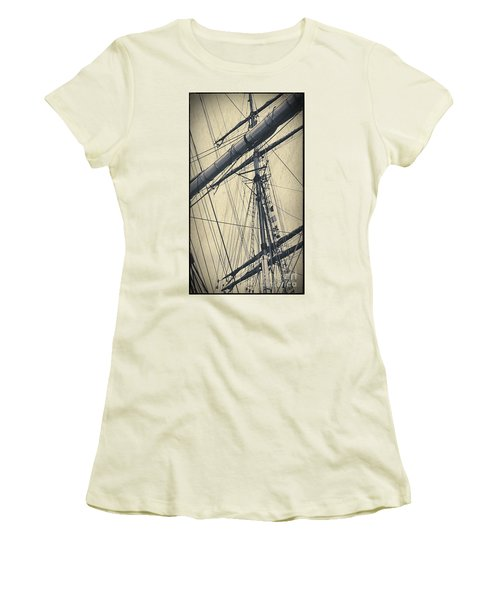 Mast And Rigging Postcard Women's T-Shirt (Athletic Fit)