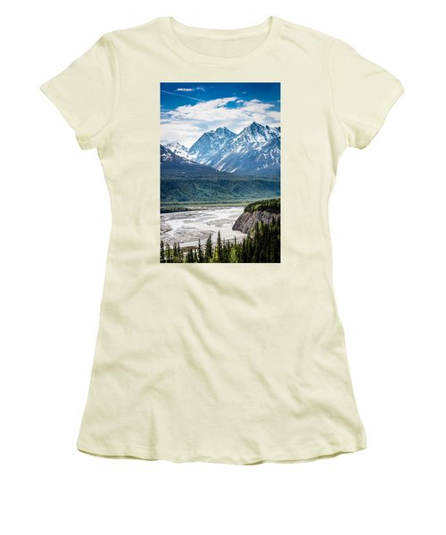 Matanuska River  Women's T-Shirt (Athletic Fit)