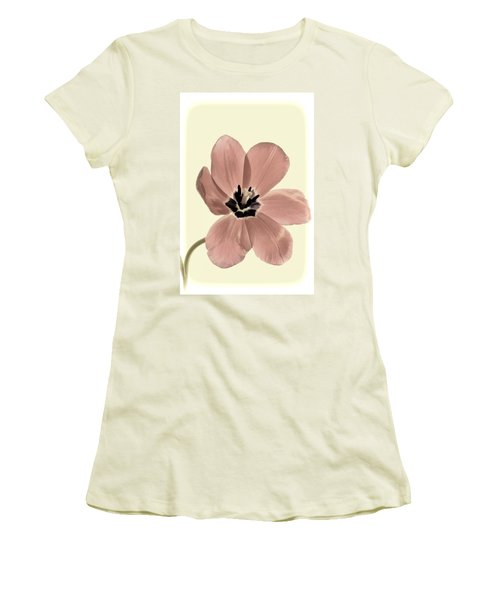 Mauve Tulip Transparency Women's T-Shirt (Athletic Fit)